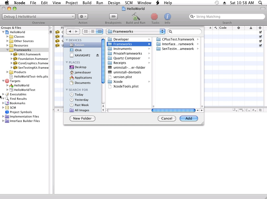Setup your first Xcode project with unit testing in mind