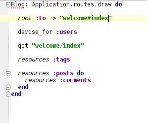 routes with root defined